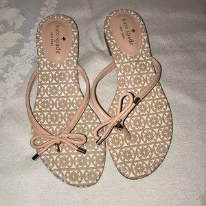 Kate Spade pink sandals flip flop Sz 7.5